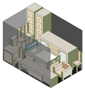3 x 4.5m storage unit example