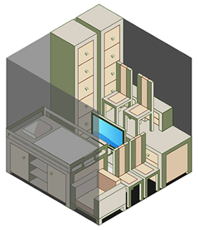 3 x 3m storage unit example