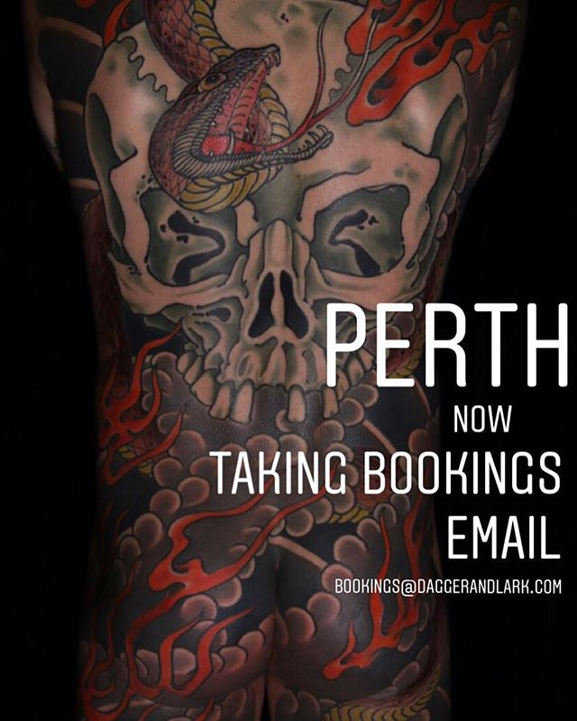 PERTH! I will be at @bloodlinesinknorthperth for the 23rd, 24th and 25th of may. New Large pieces will get priority, please email me what you want to get tattooed and  where you what to get tattoos alongside with your details.  Thanks 🙏🏻