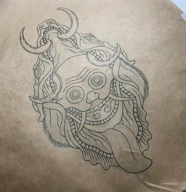 Keen to tattoo this skull and boar. Dm or email jarrodroche@hotmail.com cheers #daggerandlark