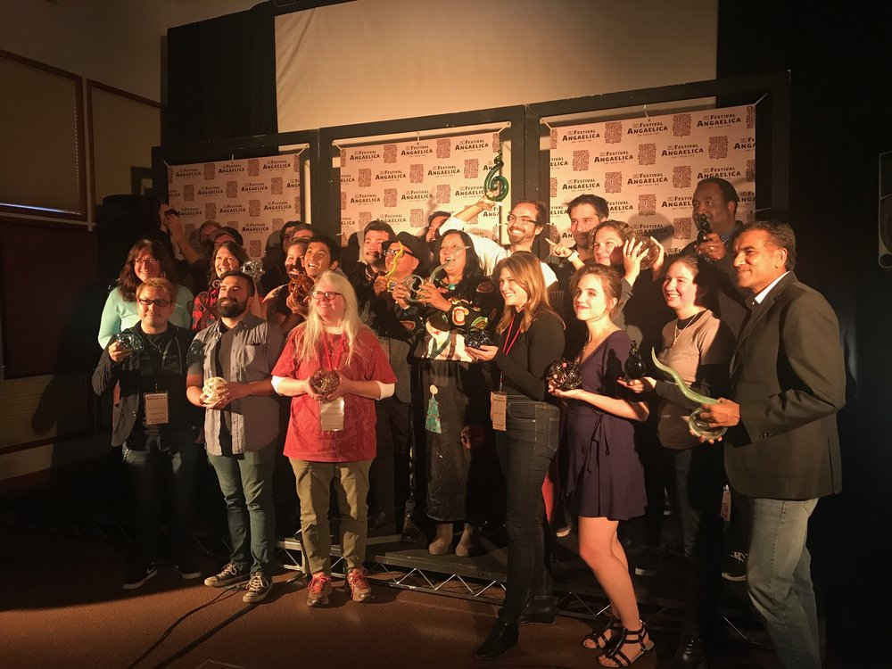 The award-winning filmmaking teams at Festival Angaelica (including Jessica Jacobs repping GIRL CODE!)