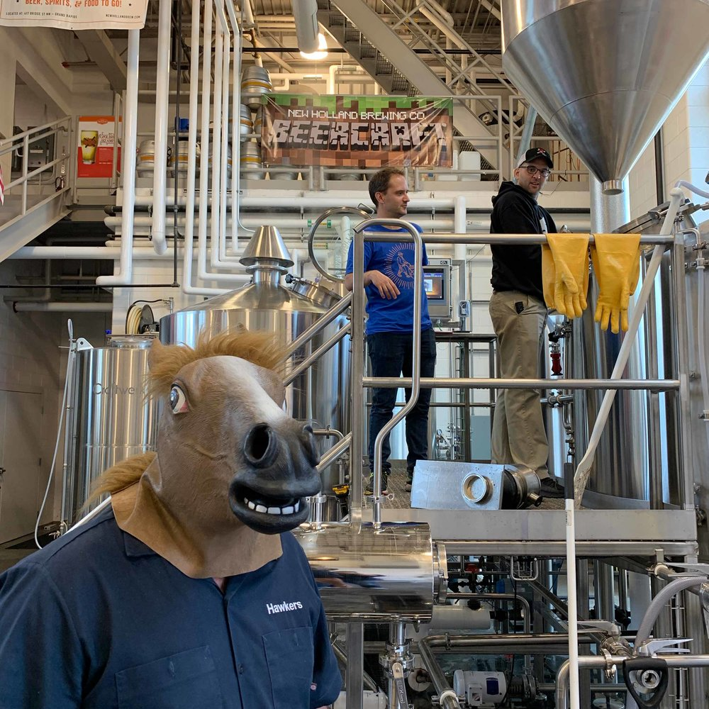 Brewing done, let's horse around!