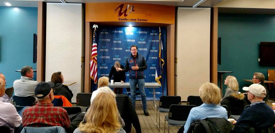 Speaking at the West Arapahoe Republican Forum