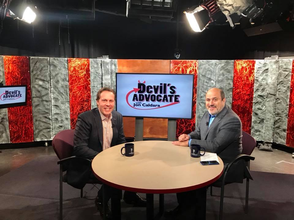 On air with Jon Caldara of The Independence Institute and The Devil's Advocate