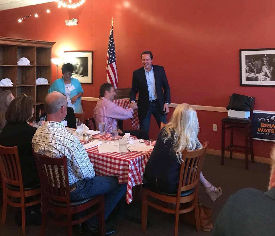 Speaking to the Longmont Republican Women