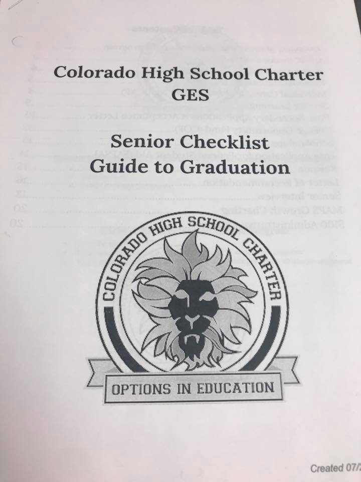 Mentoring students at Colorado High School Charter in Denver