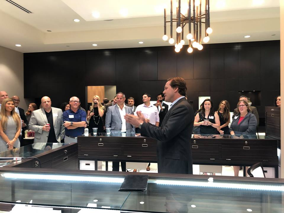 Speaking at a fundraiser at Gnat Jewelers