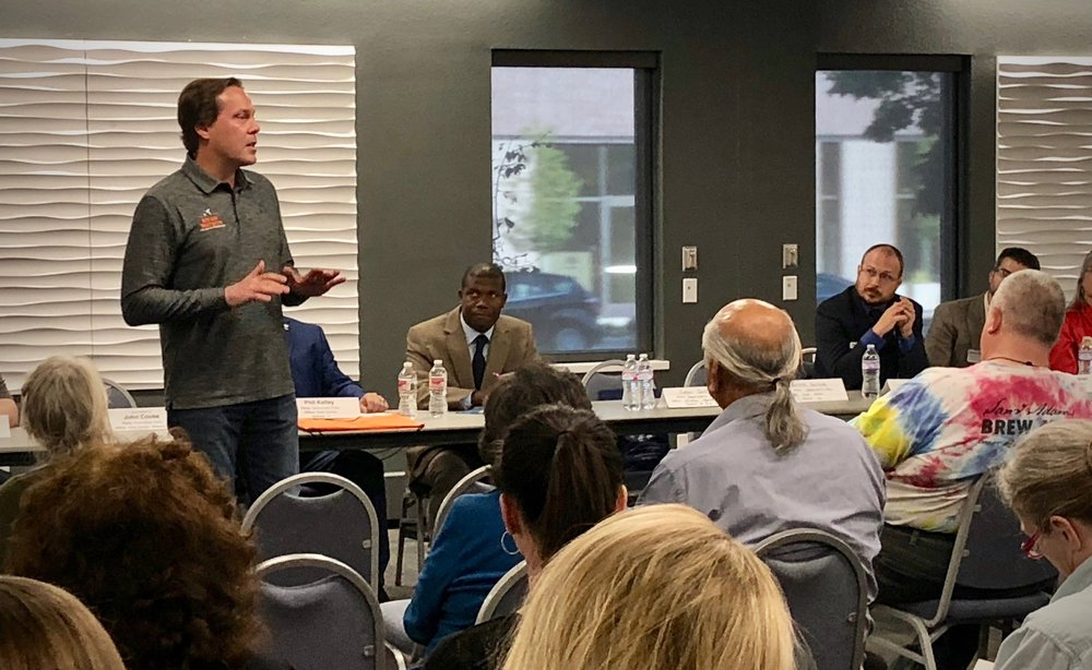 Brian addresses the Weld County Disability Community Candidate Forum on Tuesday, September 25th
