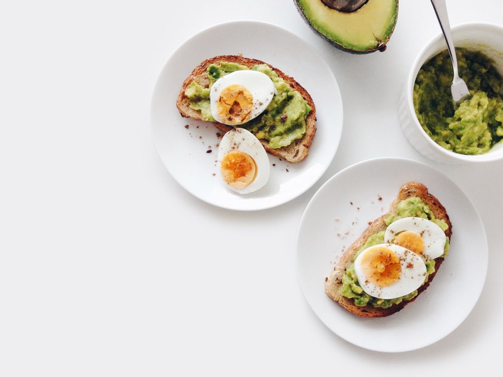 EGGS ON AVOCADO TOAST - PROTEIN FOLATE CHOLINE