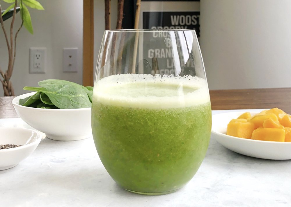 green coconut water smoothie