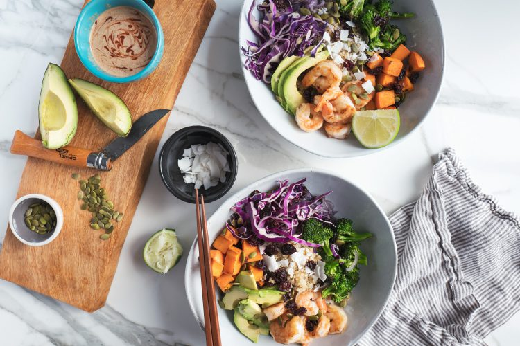 zesty shrimp bowl - PROTEIN FIBER + VITAMIN A
