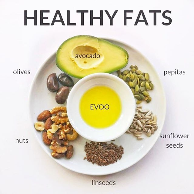 """If you're like me, you grew up being told to avoid fat. But after decades of """"low fat"""" eating - we're seeing obesity, heart disease and infertility on the rise. . 💁🏼♀️ What do fats have to do with fertility? . 🤱Your body needs HEALTHY FATS for your hormones to function properly. Fats help you OVULATE, sustain a HEALTHY PREGNANCY and PRODUCE MILK if you plan to breastfeed. In fact, 70% of the calories in breast milk are fat. . Best sources of fats? . 🐟 low-mercury fish like salmon, trout, pollock and sardines 🥑 avocados 🥥 coconuts, nuts and seeds 🍶 olive oil 🧀 grass-fed dairy (always choose full fat) . 🤰🏽If you're trying to conceive, pregnant, or nursing - include some healthy fats in every meal or snack. . 🚫 On the contrary, avoid unhealthy fats aka trans fats. Trans fats found in hydrogenated vegetable oils do the opposite. They can contribute to infertility and impair fetal development. . 📷 : @the_dietologist"""