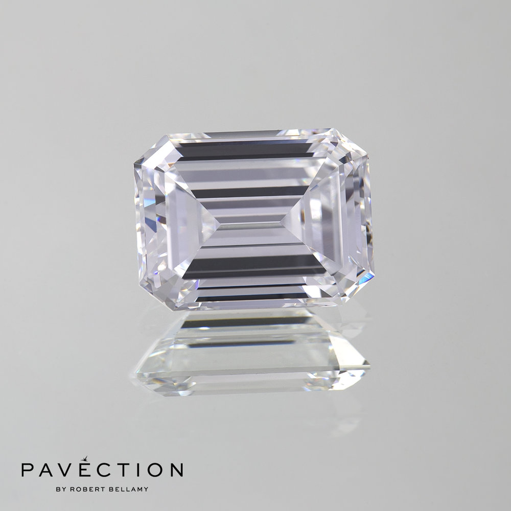 3.27 D VVS1 Emerald Cut Diamond