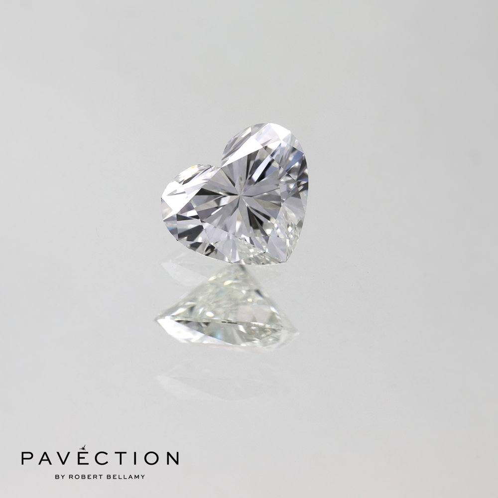 0.53ct G Flawless Heart Cut Diamond