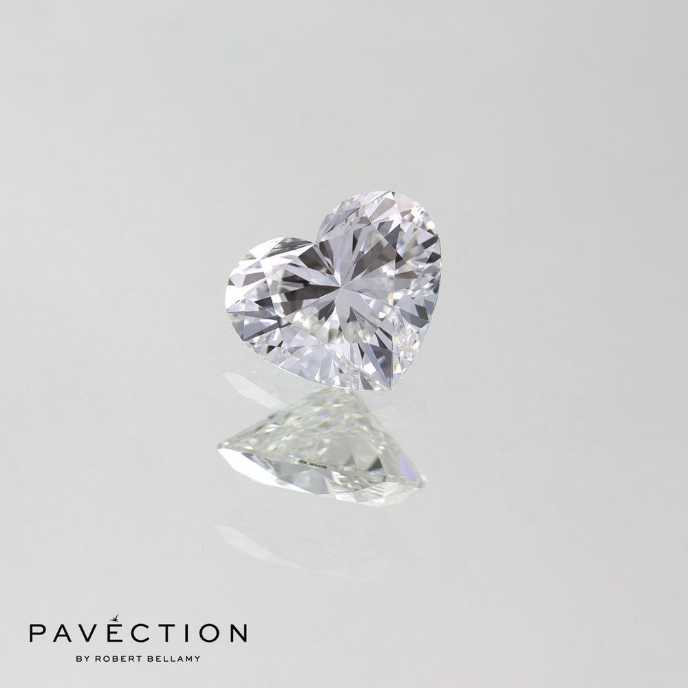 0.61ct E Flawless Heart Cut Diamond