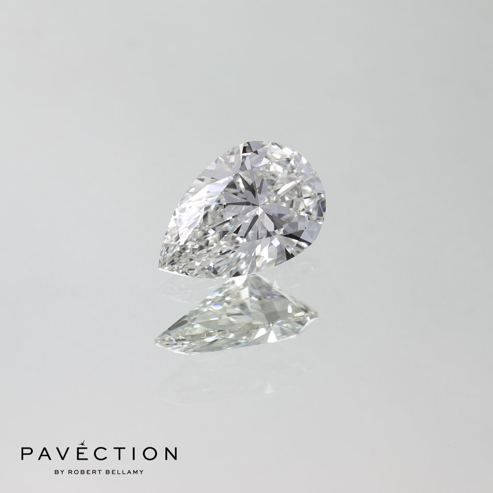 0.71ct G Flawless Pear Cut Diamond
