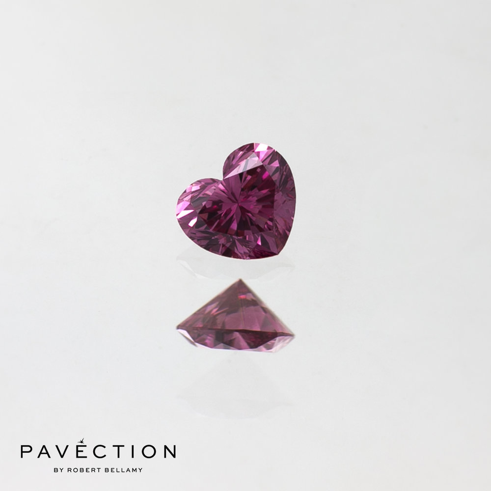 0.15ct 2PP VS2 Heart Cut Argyle Diamond