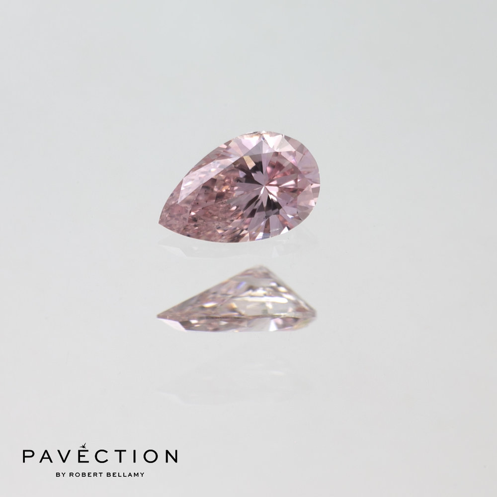 0.15ct Pc1 SI1 Pear Cut Argyle Diamond