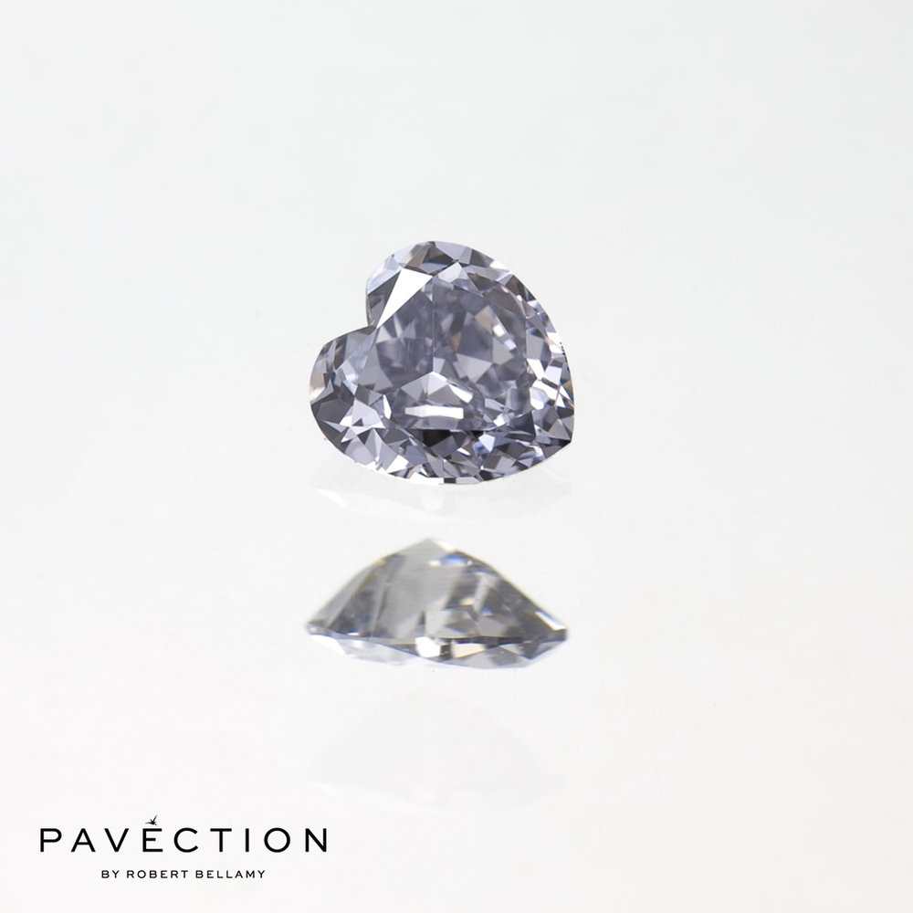0.16ct BL1 VVS2 Heart Cut Argyle Diamond