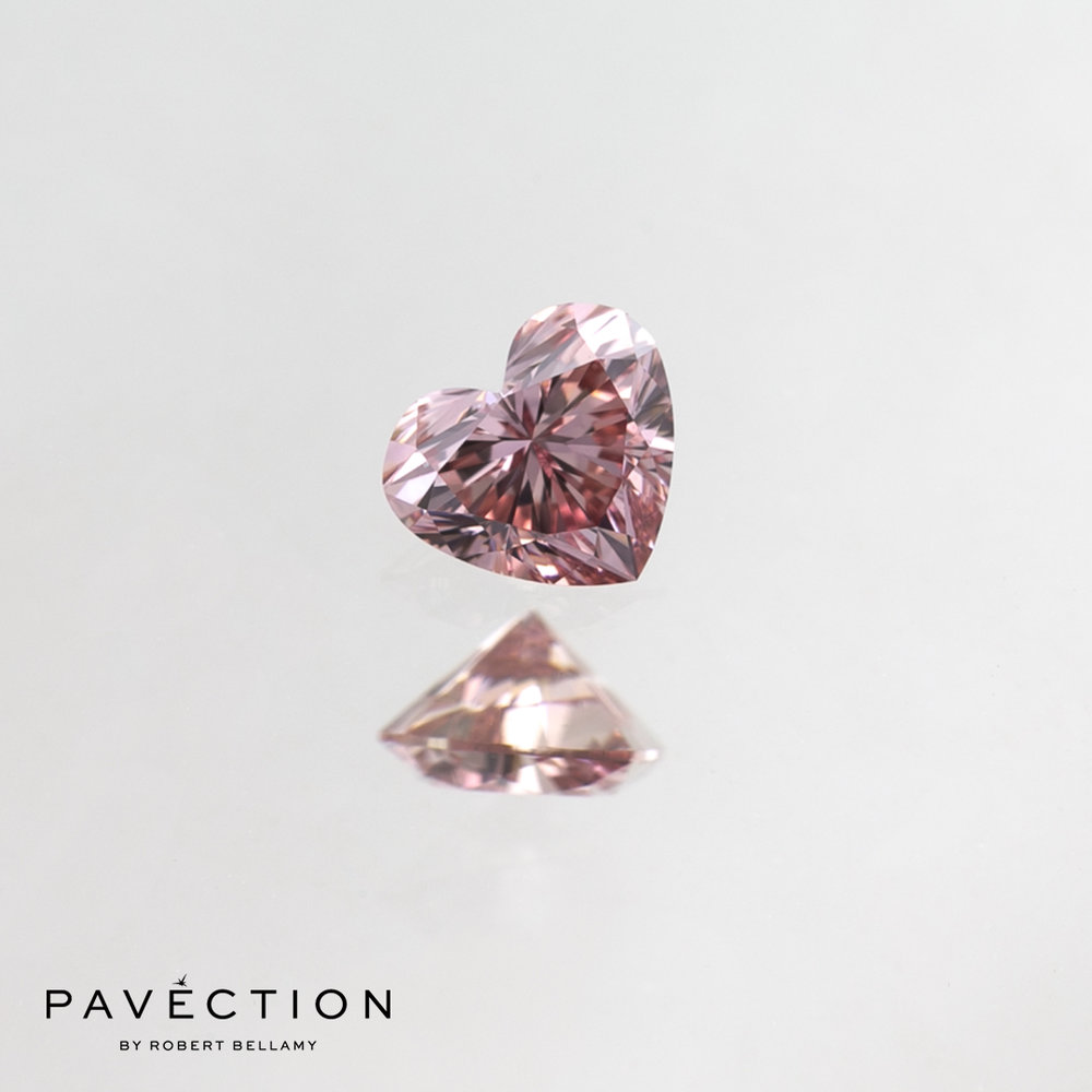 0.18ct 6PR VVS1 Heart Cut Argyle Diamond