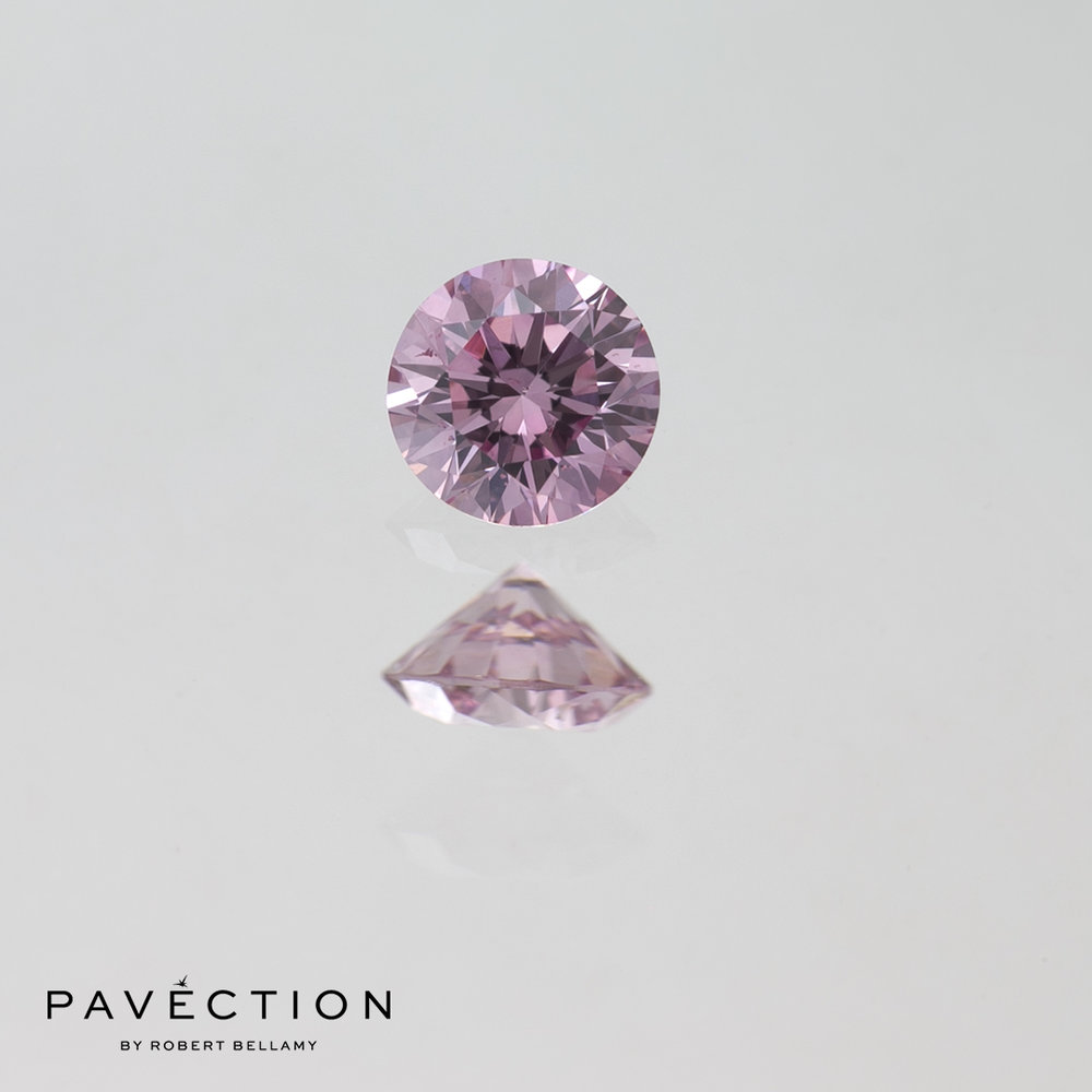 0.20ct 6PP P1 Round Brilliant Cut Argyle Diamond