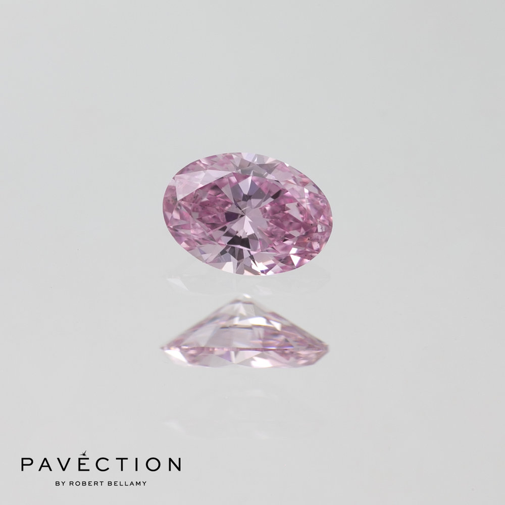 0.23ct 6PP SI1 Oval Cut Argyle Diamond