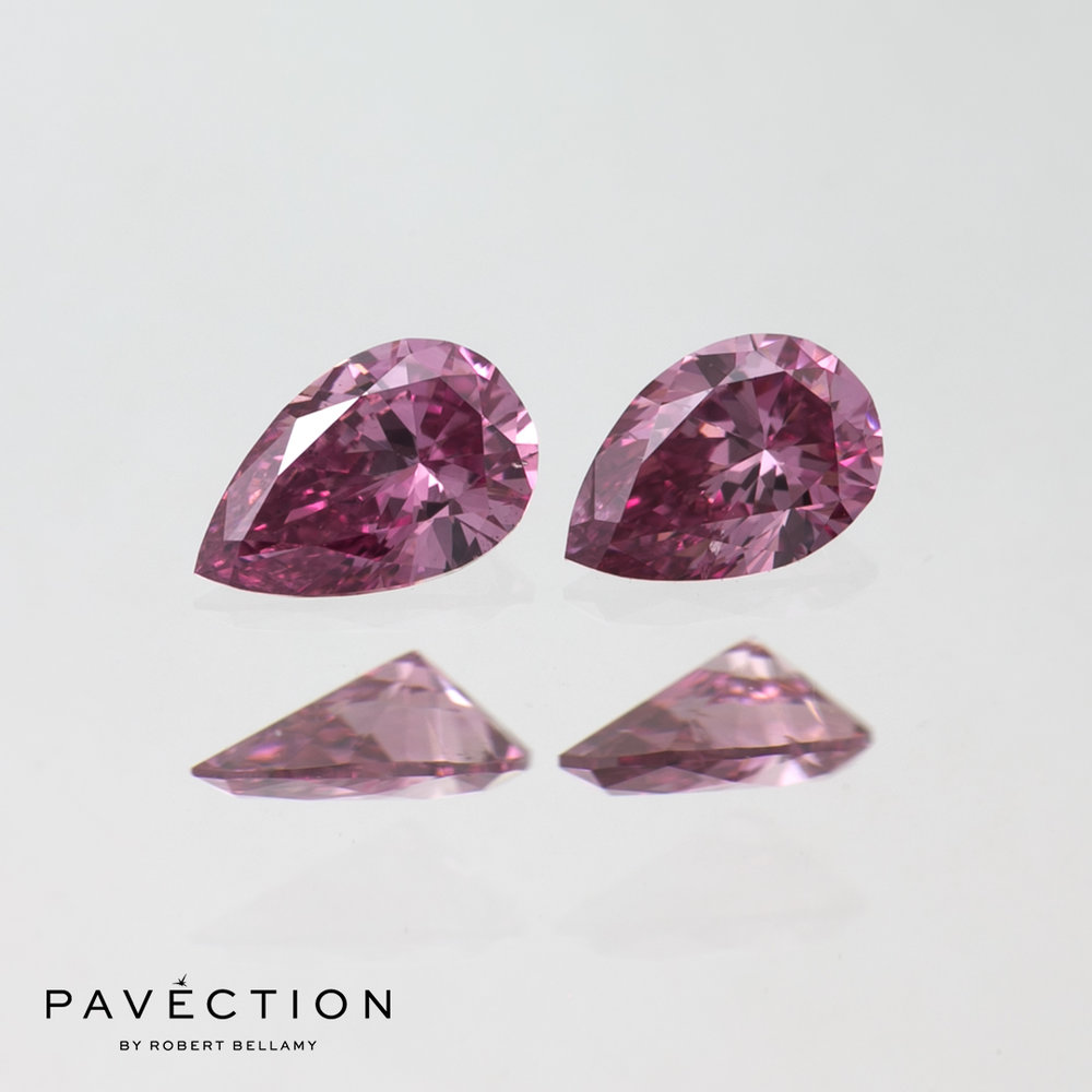 2 = 0.28ct 2P SI1 Pear Cut Argyle Diamonds