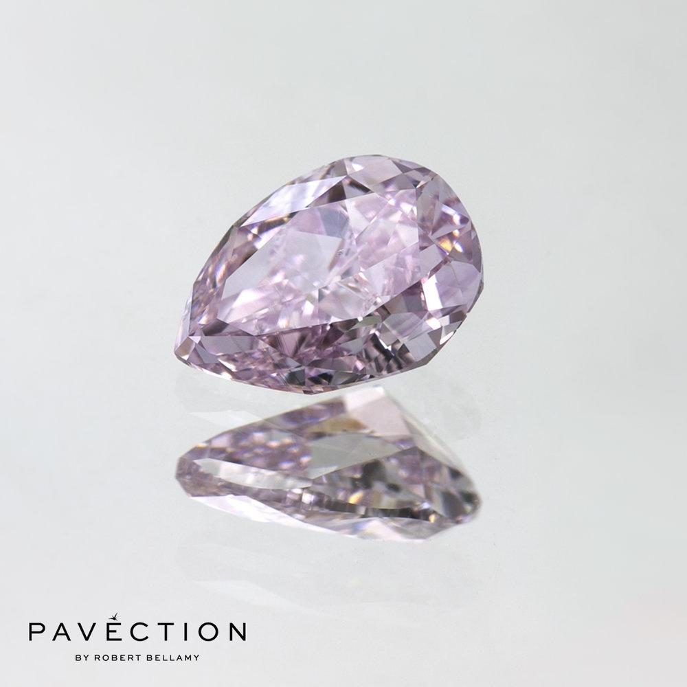 1.15 Natural Fancy Purplish Pink SI1 Pear Cut Diamond