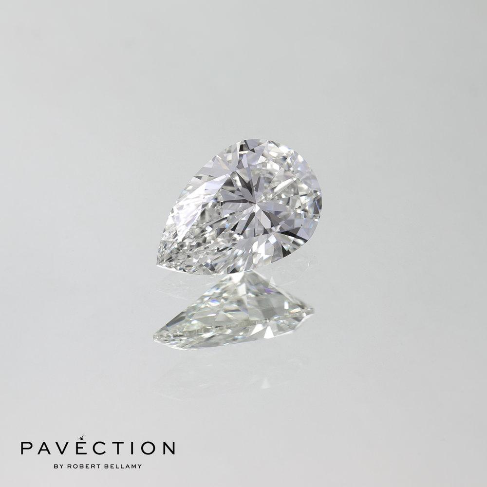 0 carat 71 point G Flawless Pear cut diamond Pavection robert bellamy brisbane city designer jewellery jewelry jewellers jewelers custom made.jpg