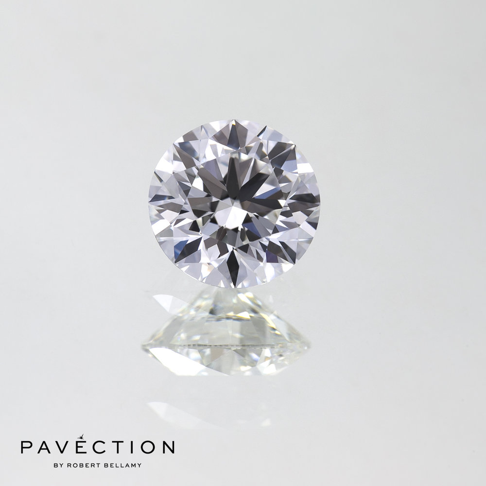 1 carat 10 point E Flawless round brilliant cut diamond Pavection robert bellamy brisbane city designer jewellery jewelry jewellers jewelers custom made.jpg
