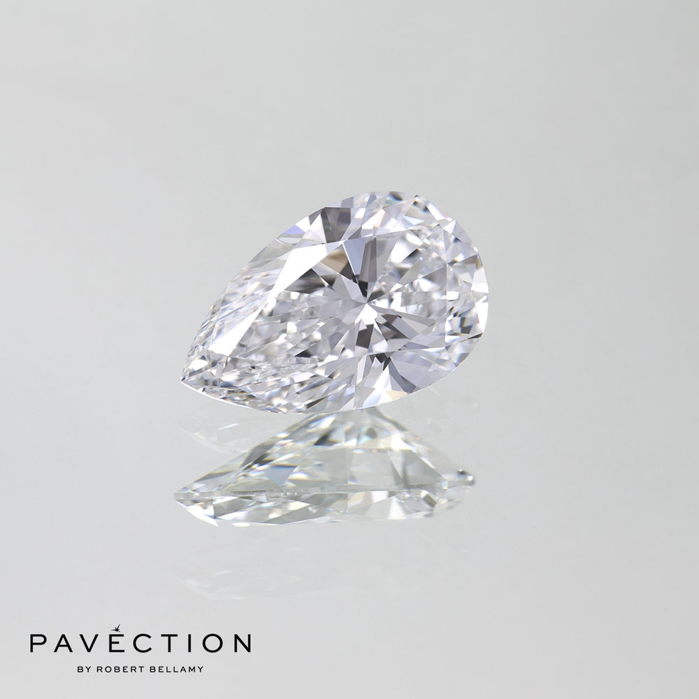 1 carat 18 point D Flawless Type IIa PEAR cut diamond Pavection robert bellamy brisbane city designer jewellery jewelry jewellers jewelers custom made.jpg