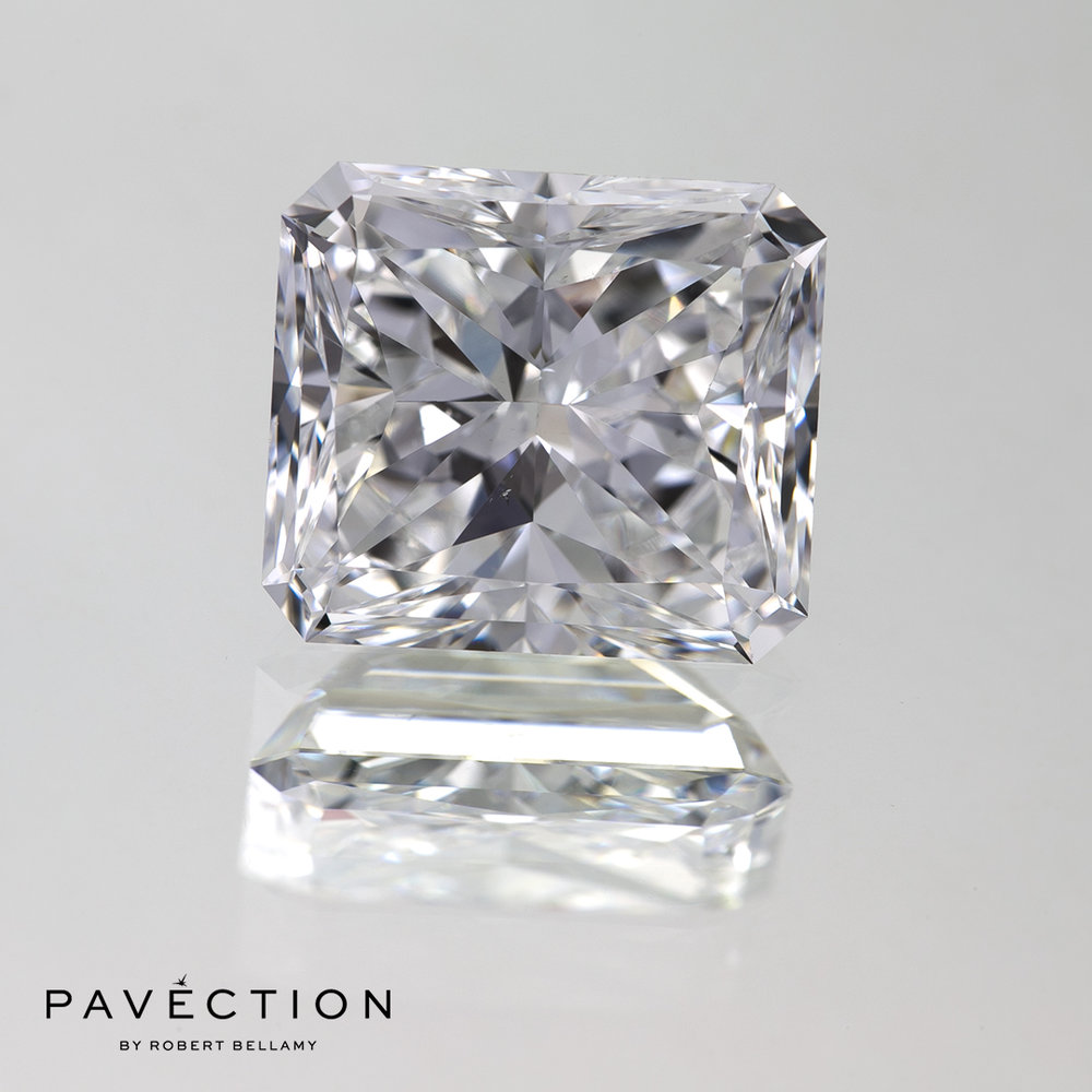 5 carat 51 point E Vs2 Radiant cut diamond Pavection robert bellamy brisbane city designer jewellery jewelry jewellers jewelers custom made.jpg