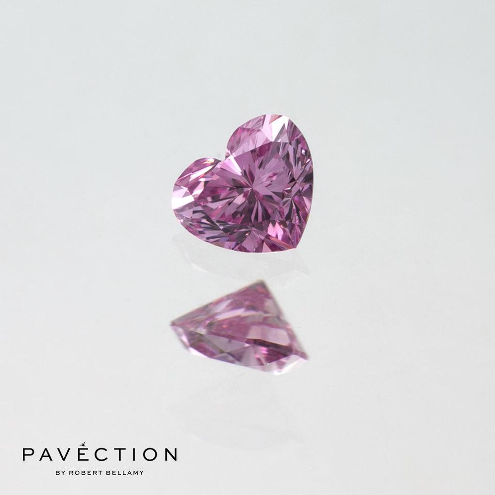 0 carat 15 point 5pp vvs1 Heart cut purple pink argyle diamond Pavection robert bellamy brisbane city designer jewellery jewelry jewellers jewelers custom made.jpg