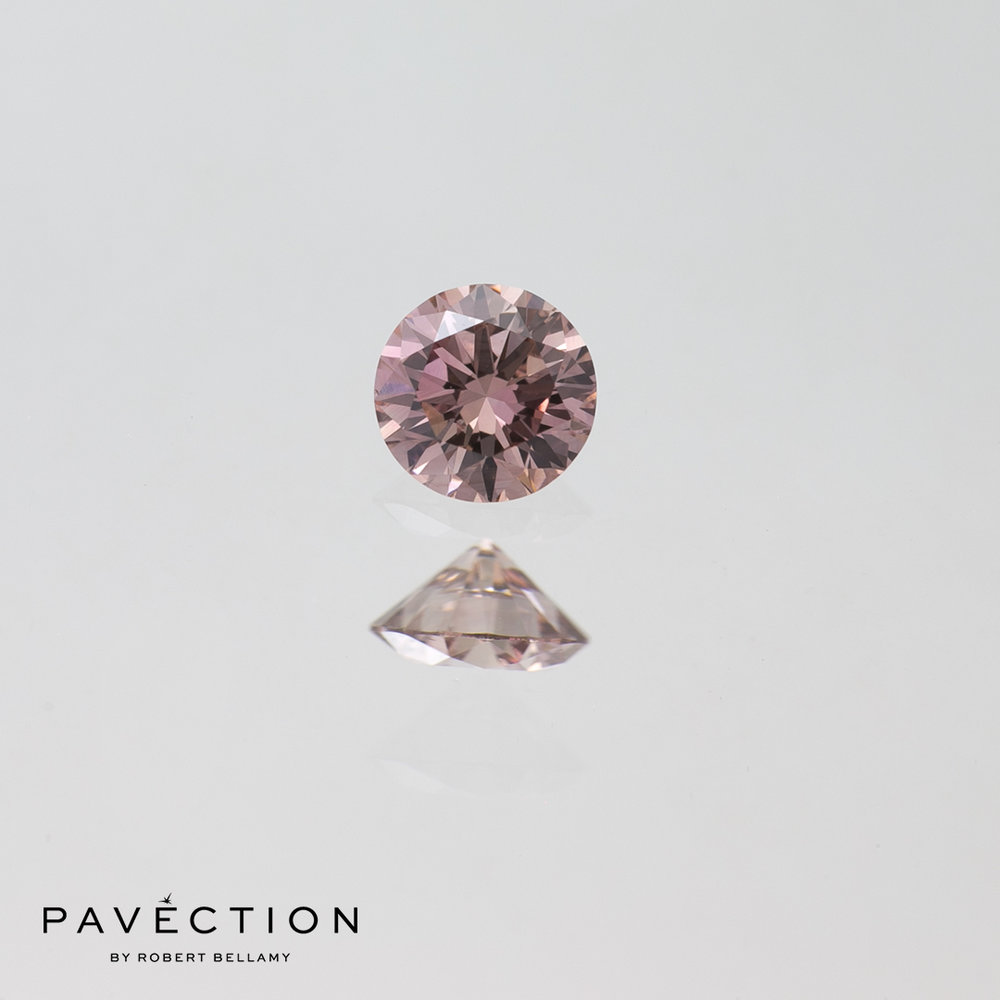 0 carat 16 point Pc2 Si1 argyle pink champagne round brilliant cut diamond Pavection robert bellamy brisbane city designer jewellery jewelry jewellers jewelers custom made.jpg