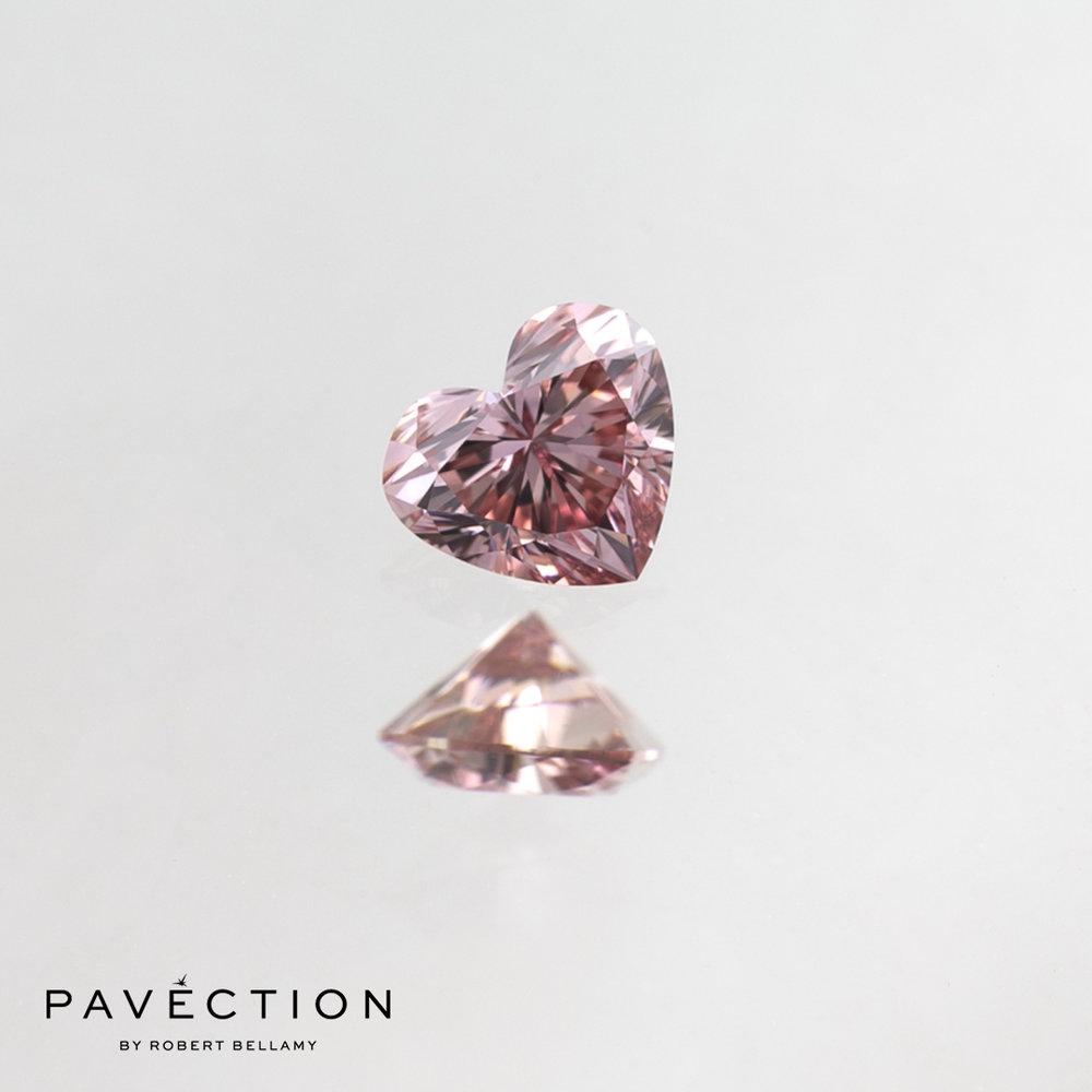 0 carat 18 point 6PR Vvs1 pink Heart cut argyle diamond Pavection robert bellamy brisbane city designer jewellery jewelry jewellers jewelers custom made.jpg