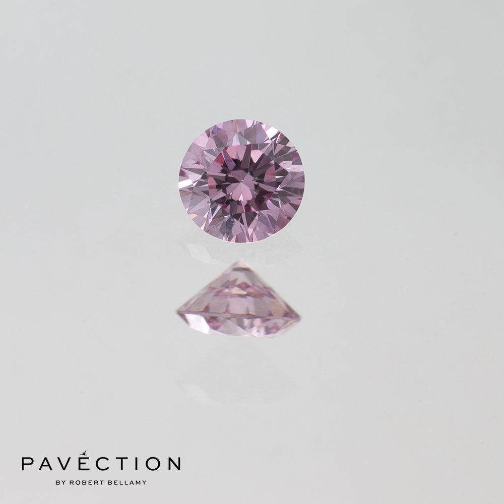 0 carat 20 point 6pp I1 pink round brilliant cut diamond Pavection robert bellamy brisbane city designer jewellery jewelry jewellers jewelers custom made.jpg
