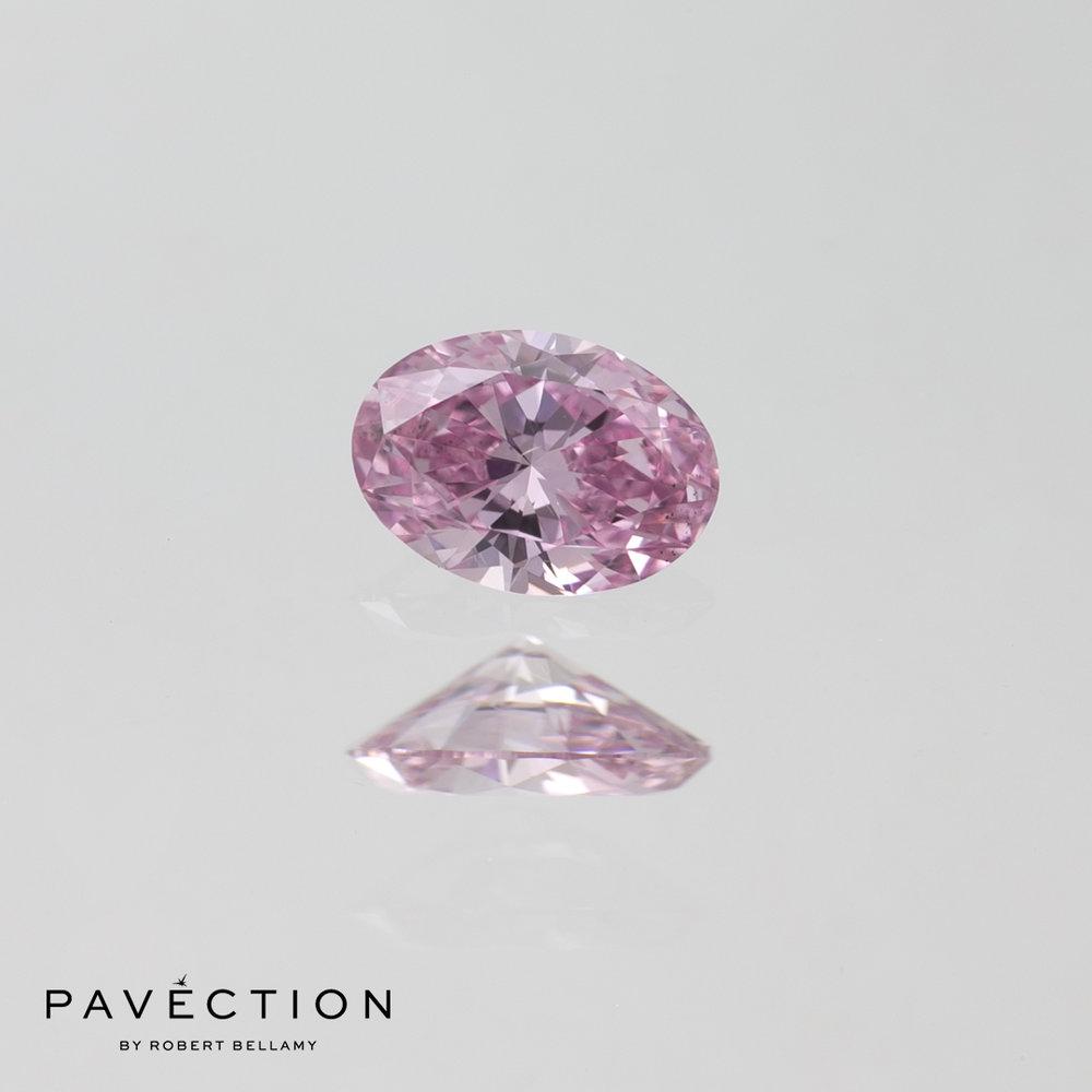 0 carat 23 point 6PP Si1 Oval purplish pink argyle diamond Pavection robert bellamy brisbane city designer jewellery jewelry jewellers jewelers custom made.jpg