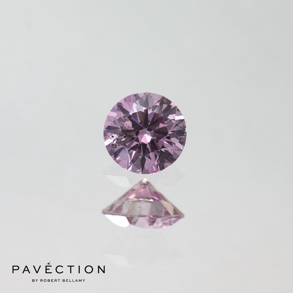 0 carat 30 point 6PP I1 purplish pink round brilliant cut argyle diamond Pavection robert bellamy brisbane city designer jewellery jewelry jewellers jewelers custom made.jpg