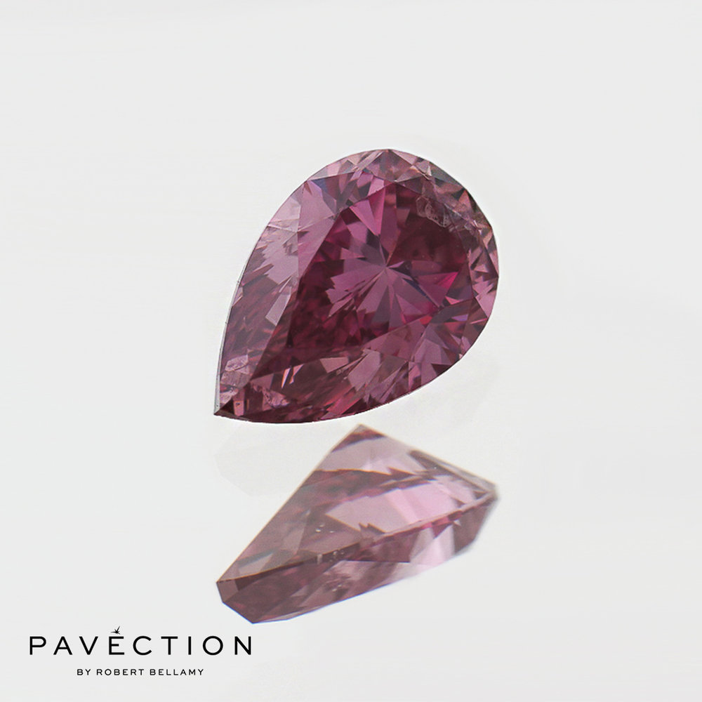 0 carat 36 point 1pp I1 Pear cut purplish pink argyle diamond Pavection robert bellamy brisbane city designer jewellery jewelry jewellers jewelers custom made.jpg
