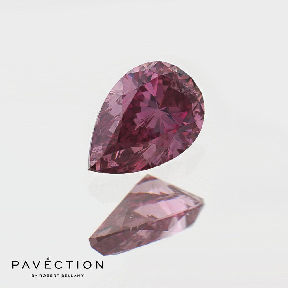 0 carat 36 point 1pp I1 Pear cut purplish pink argyle diamond Pavection robert bellamy brisbane city designer jewellery jewelry jewellers jewelers custom made.jpg