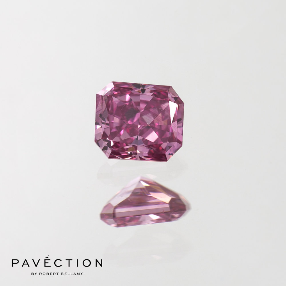 0 carat 38 point 3PP Si1 Radiant cut purplish pink argyle diamond Mini Tender Pavection robert bellamy brisbane city designer jewellery jewelry jewellers jewelers custom made.jpg