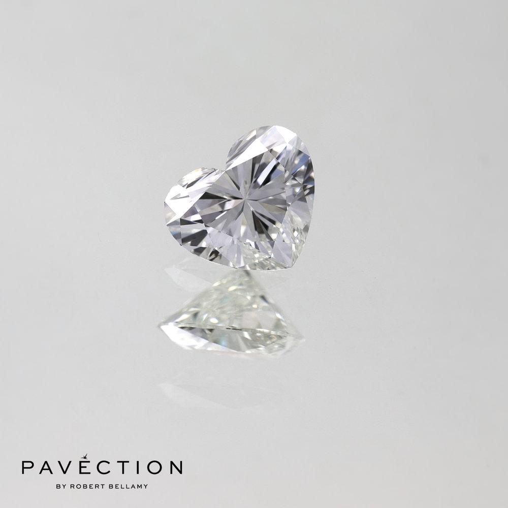 0 carat 53 point G Flawless Heart cut diamond Pavection robert bellamy brisbane city designer jewellery jewelry jewellers jewelers custom made.jpg