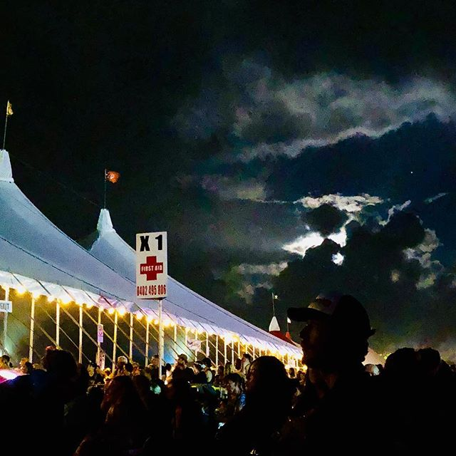 Moon and clouds #bluesfest #byronbay #april #nsw #australia #fullmoon
