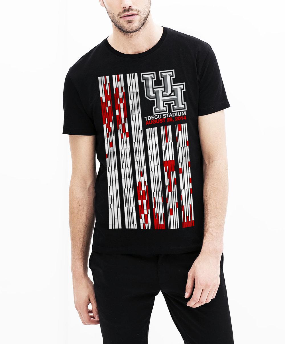 (1/2) UofH Stadium Inaugural T-shirt -  Apparel Graphics