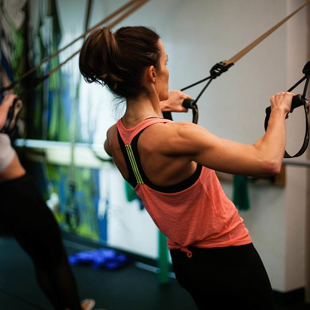 Comin into week two of 2018 like 💪🏻💦🔥 #trx with Lacey: Monday 6:15pm & Wednesday 5:15pm. TRX with Amy: Monday 9:00am, Wednesday 6:15pm, Thursday 9:00am. Come let these gals kick your 🍑 #muscle #strong #flex