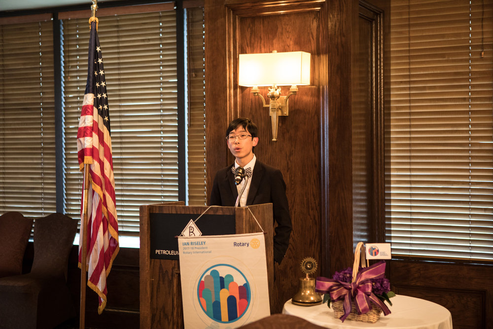 Speaking at Bakersfield Breakfast Rotary Club