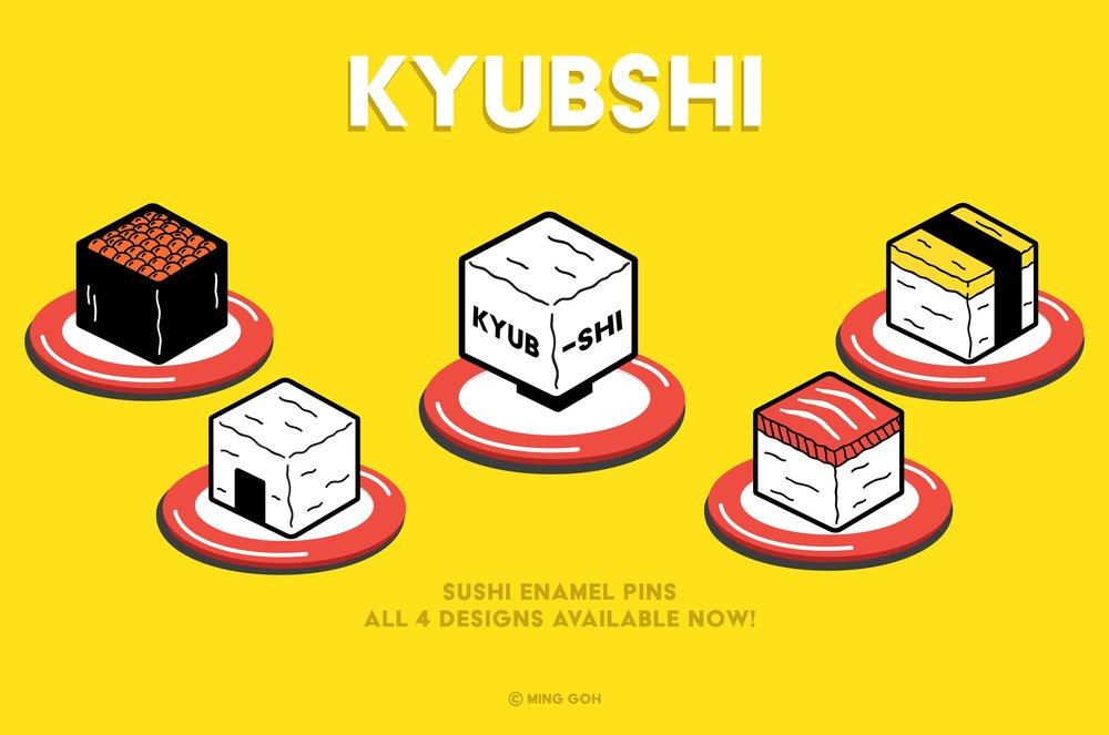 Kyubshi Enamel Pins