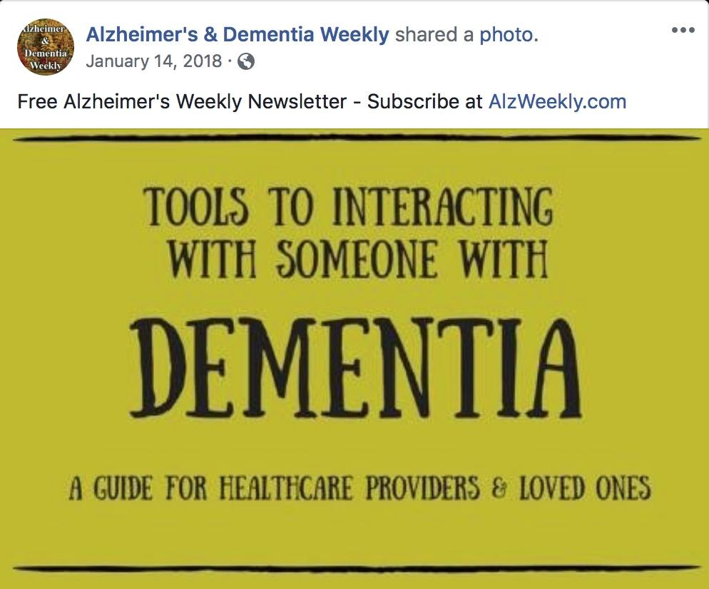 Alzheimers & Dementia Weekly, November, 2017