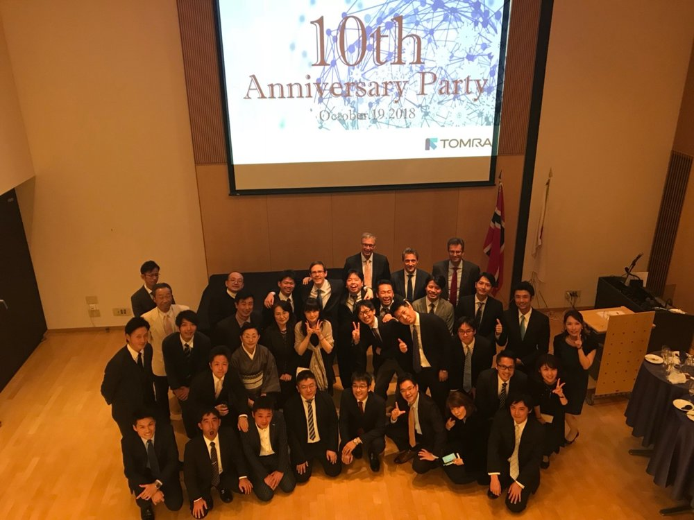 TOMRA Japan celebrating their 10-year Anniversary in Japan at the Aurora Hall