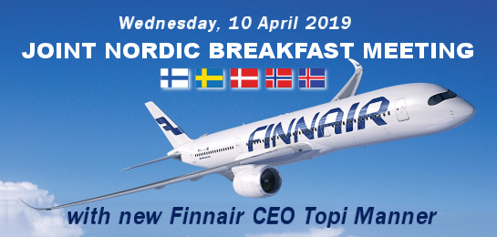 Nordic Chambers] Joint Nordic Breakfast Meeting with new Finnair CEO
